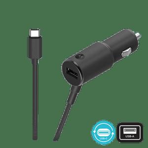 Cargador para automóvil Motorola TurboPower ™ 36W de doble puerto