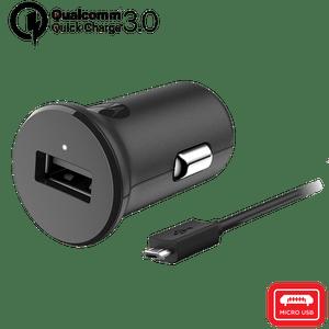 Cargador de automóvil Motorola TurboPower ™ 18 con cable de datos micro USB