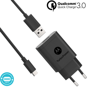 Cargador de pared Motorola TurboPower ™ 18 con cable de datos USB-C