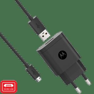 Cargador de pared rápido Motorola 10W con cable de datos micro USB